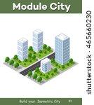 3d isometric city landscape of... | Shutterstock .eps vector #465660230
