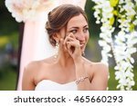 beautiful sexy bride in white... | Shutterstock . vector #465660293