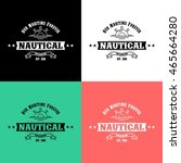 nautical logo design template | Shutterstock .eps vector #465664280