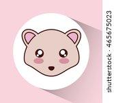 cute animal design represented...   Shutterstock .eps vector #465675023