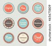 vintage labels template set ... | Shutterstock .eps vector #465675809