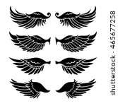 wings silhouettes isolated on... | Shutterstock .eps vector #465677258