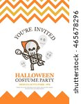 skeleton halloween invitation... | Shutterstock .eps vector #465678296
