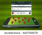 football or soccer match... | Shutterstock .eps vector #465700070