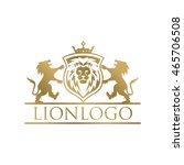 lion logo template   Shutterstock .eps vector #465706508