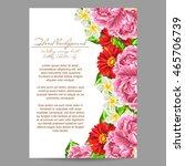 vintage delicate invitation... | Shutterstock . vector #465706739