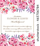 vintage delicate invitation... | Shutterstock . vector #465706784