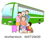 the trip by bus which is... | Shutterstock .eps vector #465710630