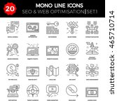 thin line icons set of search... | Shutterstock . vector #465710714