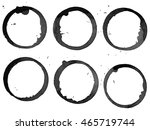 set of black stains isolated on ... | Shutterstock . vector #465719744