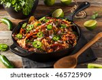 homemade barbecue pulled pork... | Shutterstock . vector #465725909