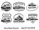 set of classic heavy truck logo ... | Shutterstock .eps vector #465731999