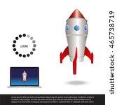 rocket   Shutterstock .eps vector #465738719