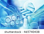 medicine research product at... | Shutterstock . vector #465740438