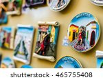 fridge magnets with traditional ... | Shutterstock . vector #465755408