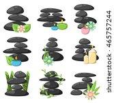 Zen Basalt Stones And Bamboo...