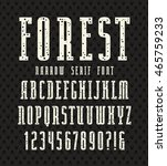 narrow serif font with speckled ... | Shutterstock .eps vector #465759233