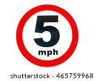 5 mph limited speed in uk on... | Shutterstock . vector #465759968