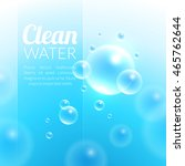 clean purified water vector...   Shutterstock .eps vector #465762644