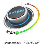 rating button position 3d...   Shutterstock . vector #465769124