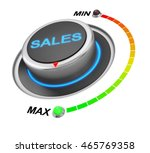 sales button position 3d...   Shutterstock . vector #465769358