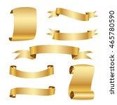 golden ribbon set | Shutterstock .eps vector #465780590