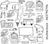 hand draw education school... | Shutterstock .eps vector #465790796