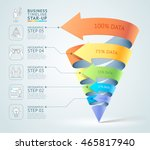 modern cone 3d staircase... | Shutterstock .eps vector #465817940