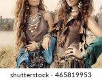 two beautiful gypsy girls in... | Shutterstock . vector #465819953