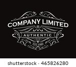 antique label typography... | Shutterstock .eps vector #465826280