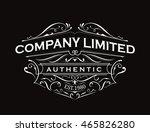 antique label typography... | Shutterstock .eps vector #465826280