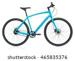 new blue bicycle isolated on a... | Shutterstock . vector #465835376