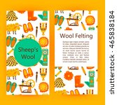 handmade wool products brochure ... | Shutterstock .eps vector #465838184