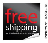 black free shipping promotion... | Shutterstock . vector #465838640