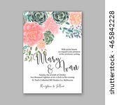 wedding invitation template... | Shutterstock .eps vector #465842228