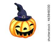 halloween watercolor isolated... | Shutterstock . vector #465848330