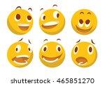 vector cartoon image of a set... | Shutterstock .eps vector #465851270