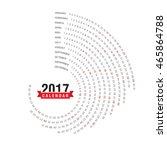 2017 calendar  spiral... | Shutterstock .eps vector #465864788