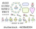 elements for creating greeting... | Shutterstock .eps vector #465868304