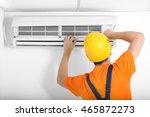 technician repairing air... | Shutterstock . vector #465872273