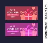 vector template gift voucher.... | Shutterstock .eps vector #465875174