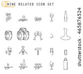 wine related icons | Shutterstock .eps vector #465876524