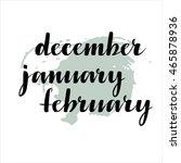 handwritten names of months ... | Shutterstock .eps vector #465878936