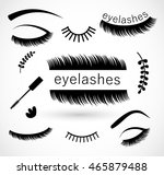 eyelashes icon set vector  | Shutterstock .eps vector #465879488