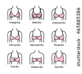 icon types of bra. kinds of bras | Shutterstock .eps vector #465885386