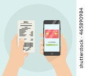 mobile payment of bill  receipt.... | Shutterstock .eps vector #465890984