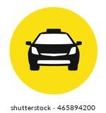 modern taxi vector icon  | Shutterstock .eps vector #465894200