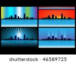 skyline lights | Shutterstock .eps vector #46589725