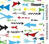 hand drawn arrows seamless... | Shutterstock .eps vector #465900296