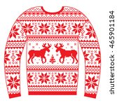 ugly christmas jumper or... | Shutterstock .eps vector #465901184